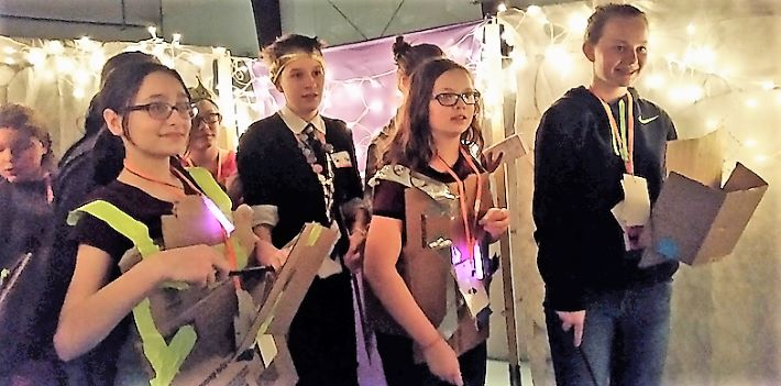 Students participate in a dungeon crawl!